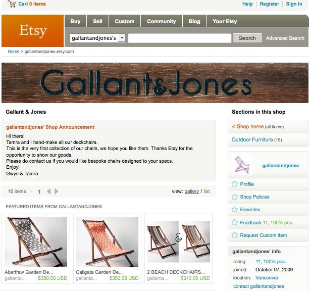 Gallant & Jones Etsy Page