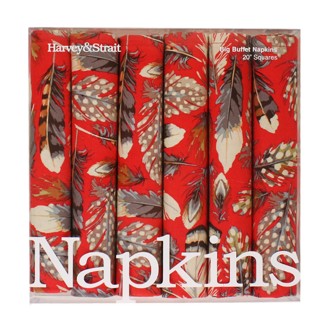 feathers napkins