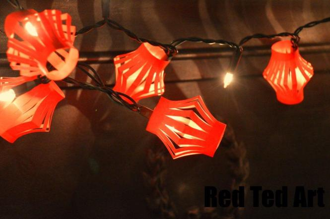 Red Ted's DIY Tutorial Chinese Lantern Fairylights