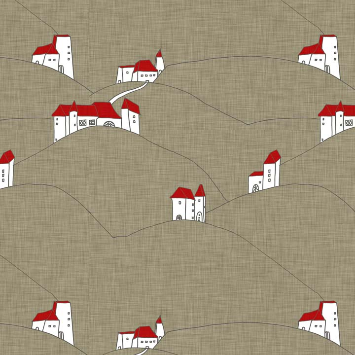countryside architecture linen by Holli Zollinger