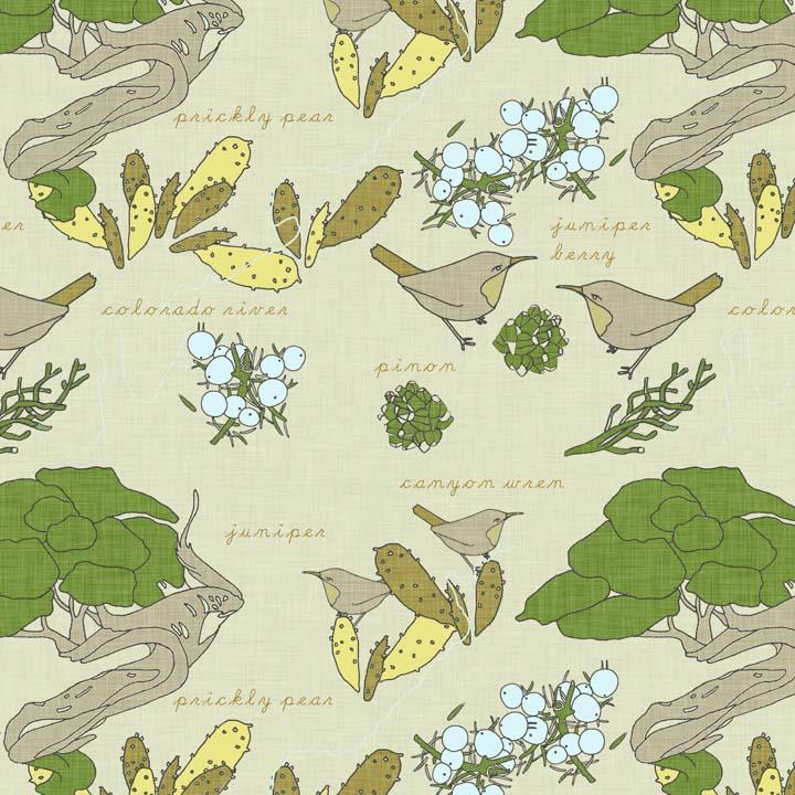 southwest juniper fabric by Holli Zllinger
