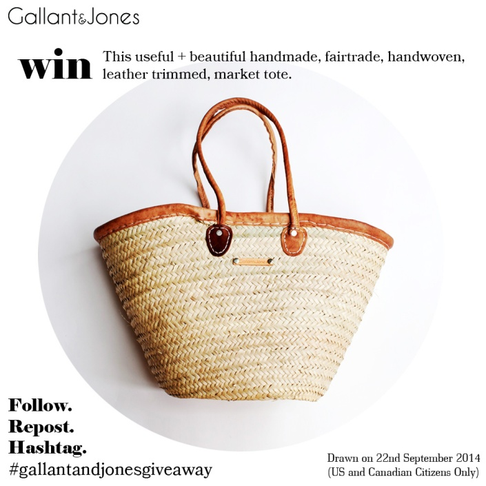 Shopping bag give away, market tote, french basket